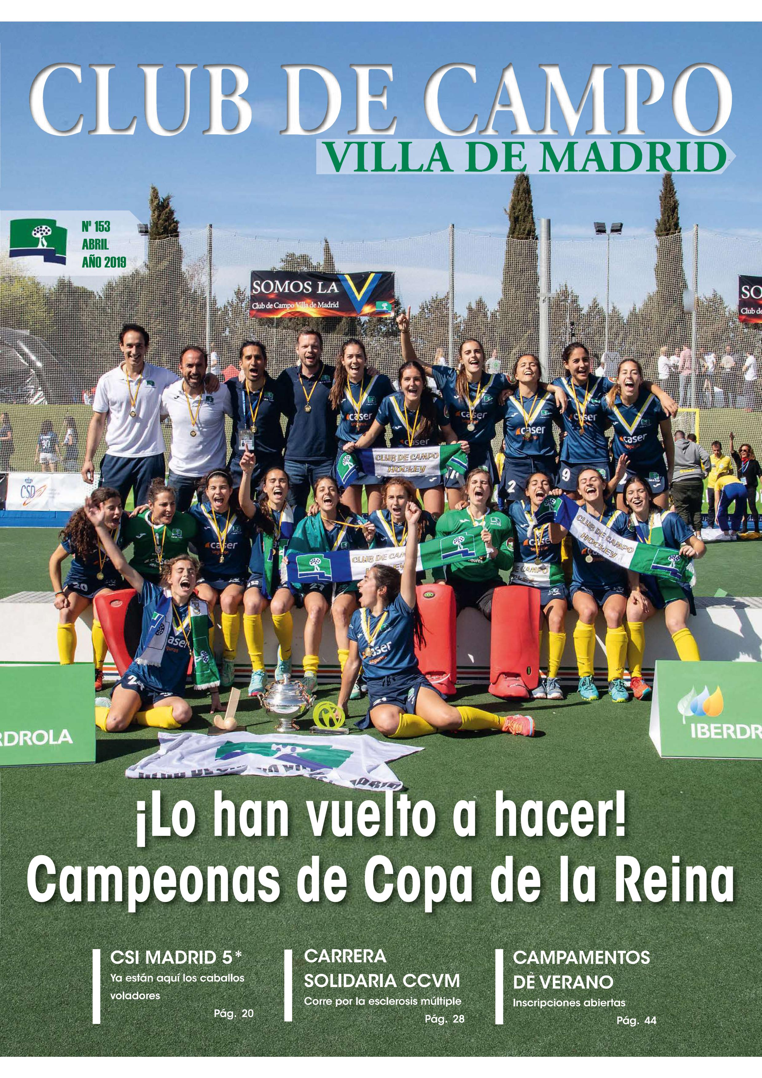 Portada revista Club de Campo abril 2019 nº 153