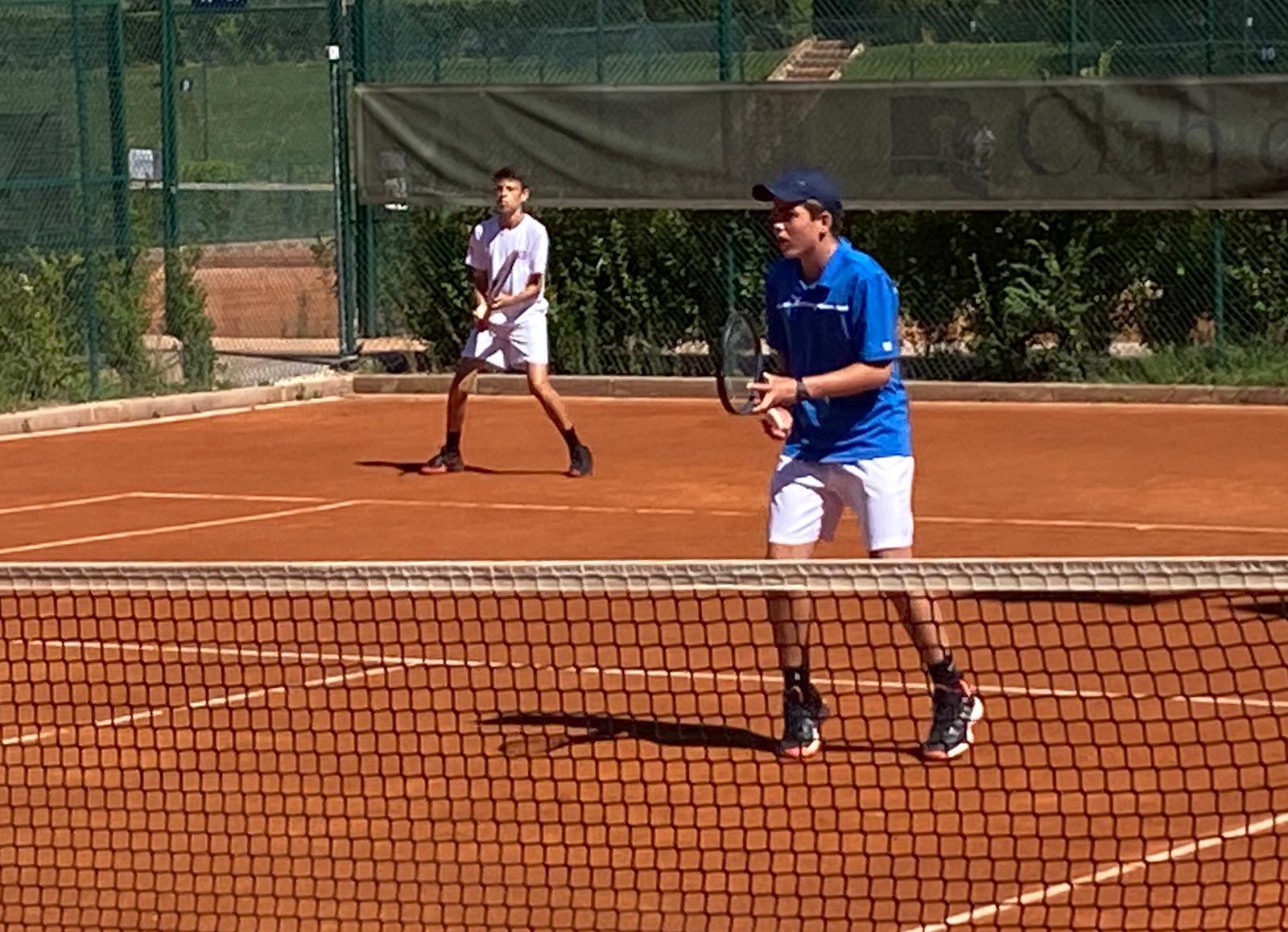 Los campeones de dobles, Luis Llorens (dcha.) y Bernardo Munk. Foto: FTM