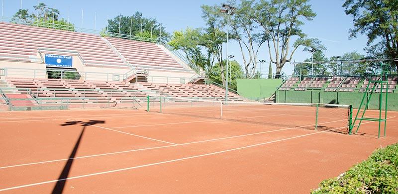 Tenis. Pista central
