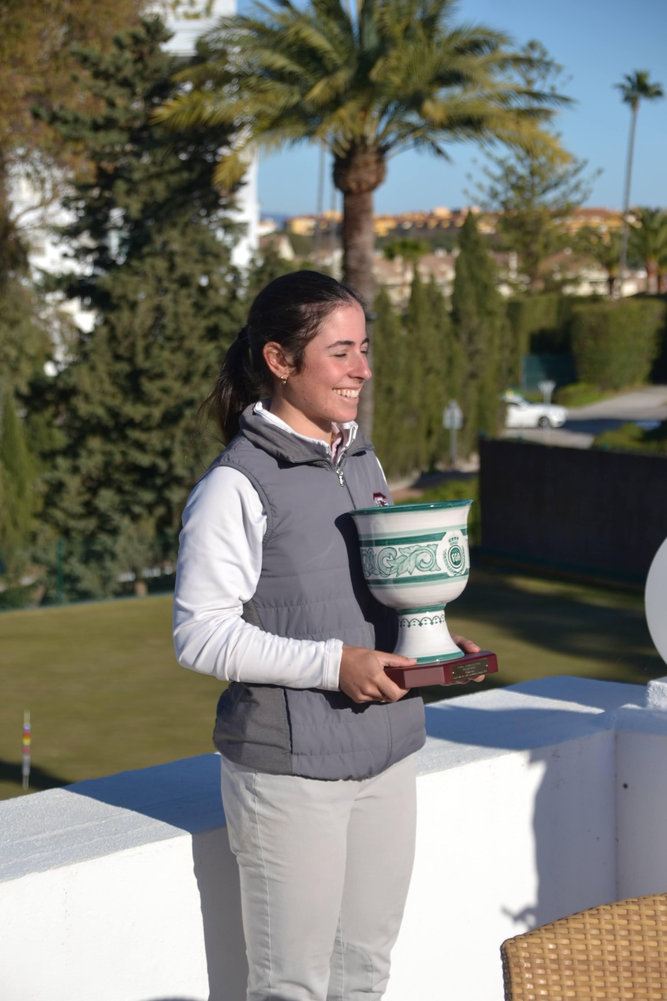 La bicampeona de la Copa Andalucía Ana Peléz. Foto: Rfegolf