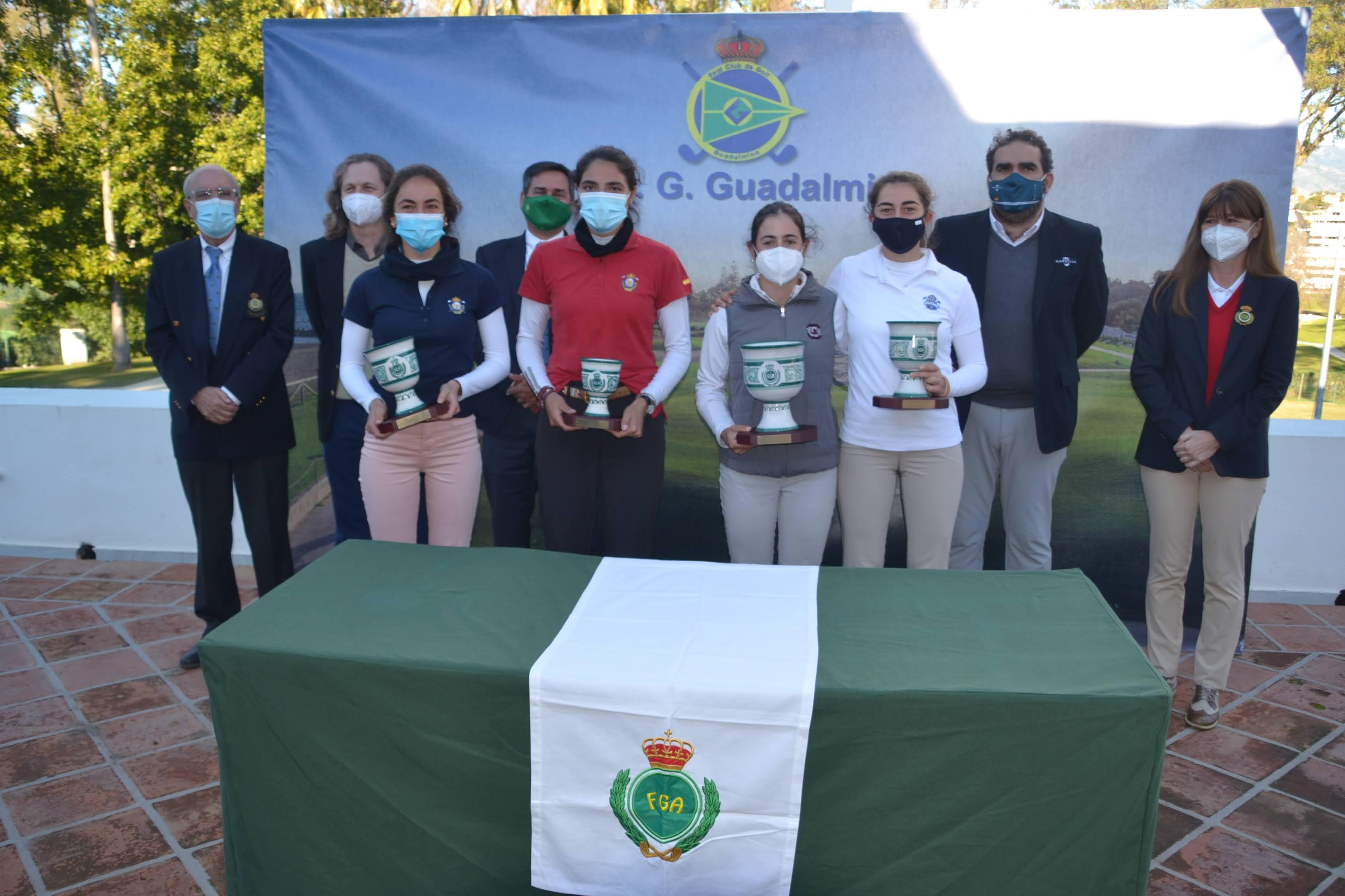 Entrega de premios de la Copa Andalucía de golf. Foto: Rfegolf