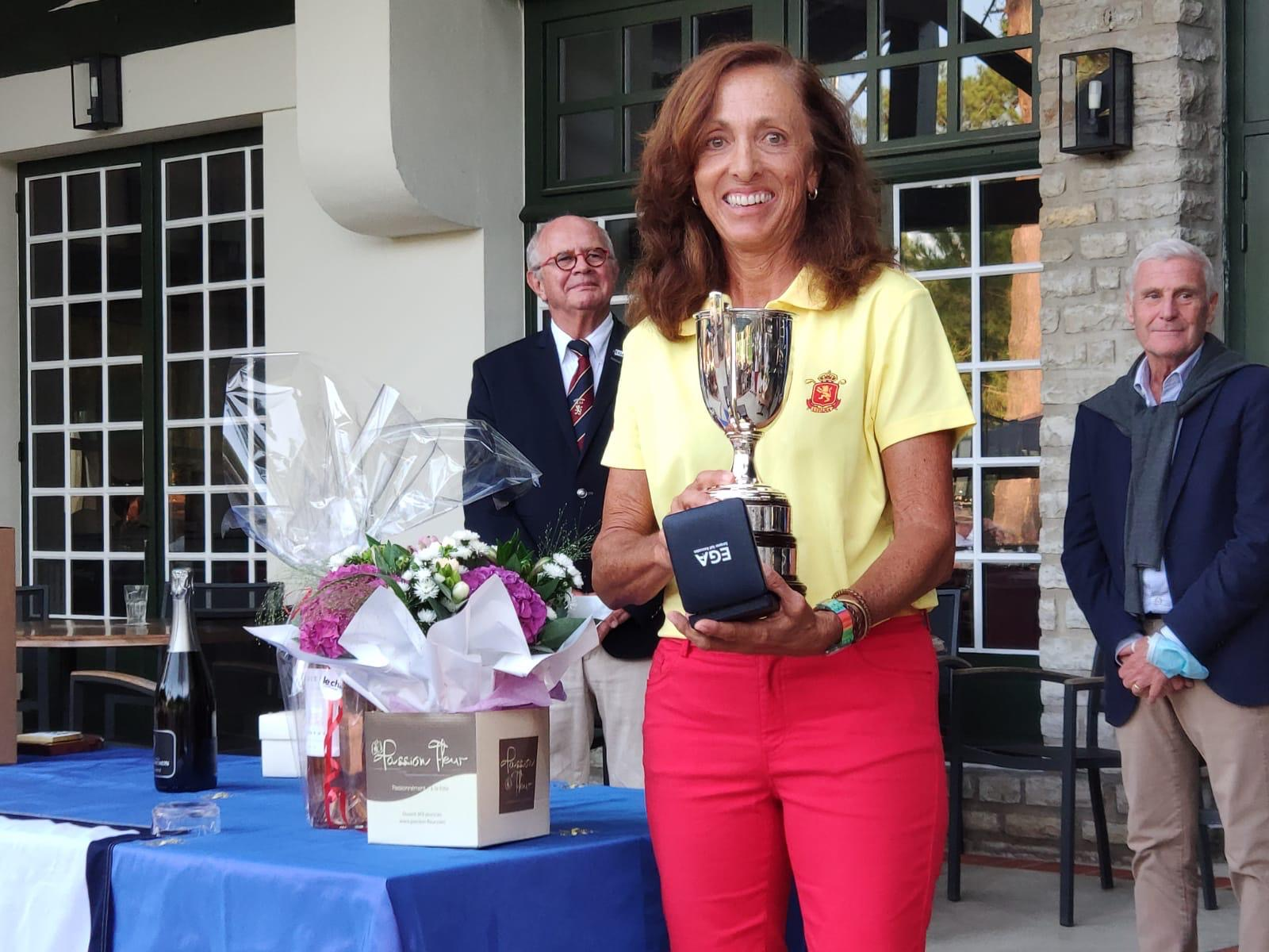 María de Orueta, campeona del Europa Individual Sénior de golf. Foto: Rfegolf