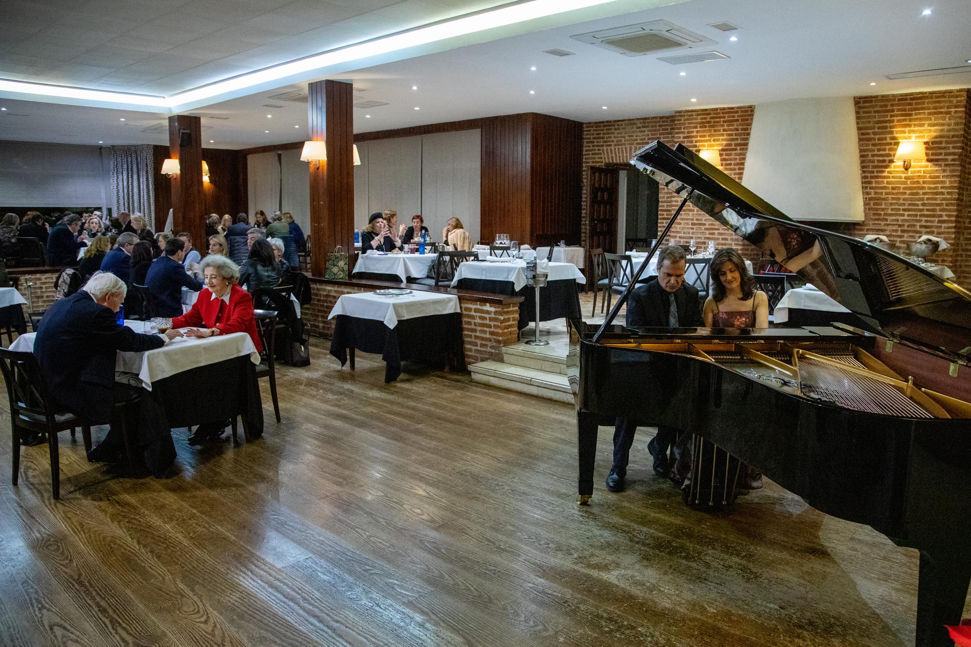 Cena-recital Dúo Madom. Foto: Miguel Ros