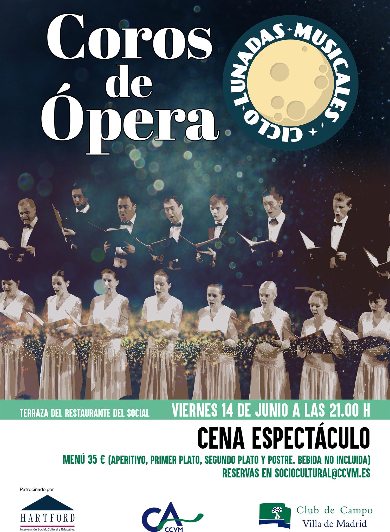 Cartel de Lunadas de Coros de Ópera