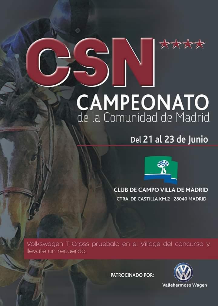 Cartel del CSN 4 Campeonato de la Comunidad de Madrid.