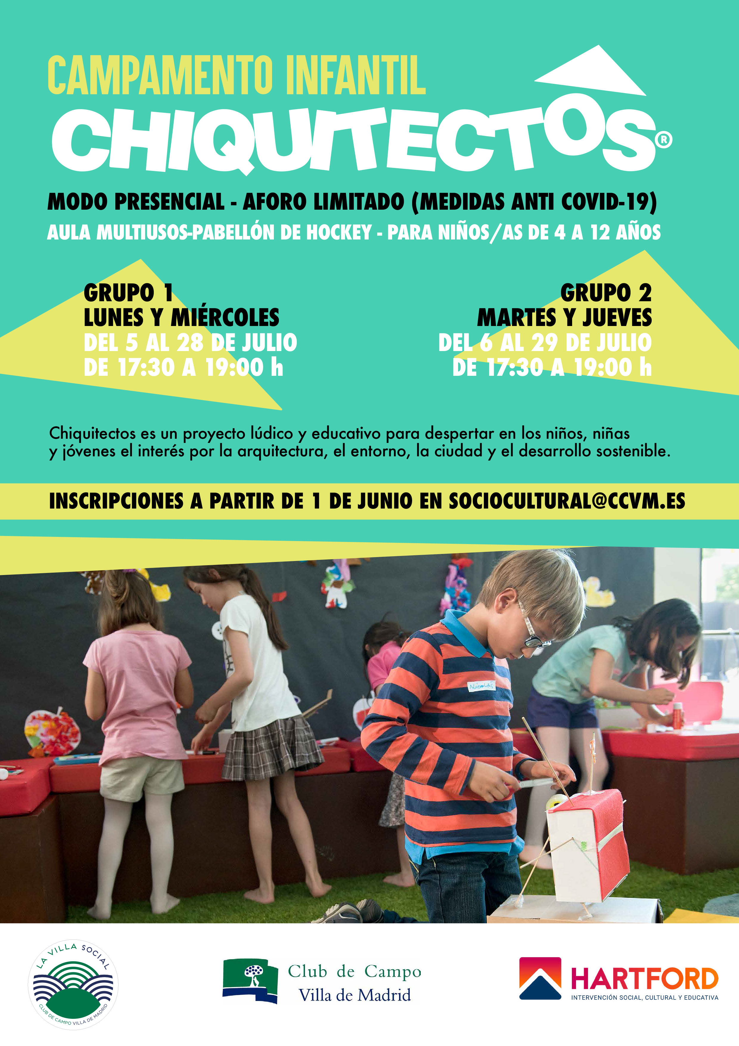 Campamento infantil Chiquitectos.