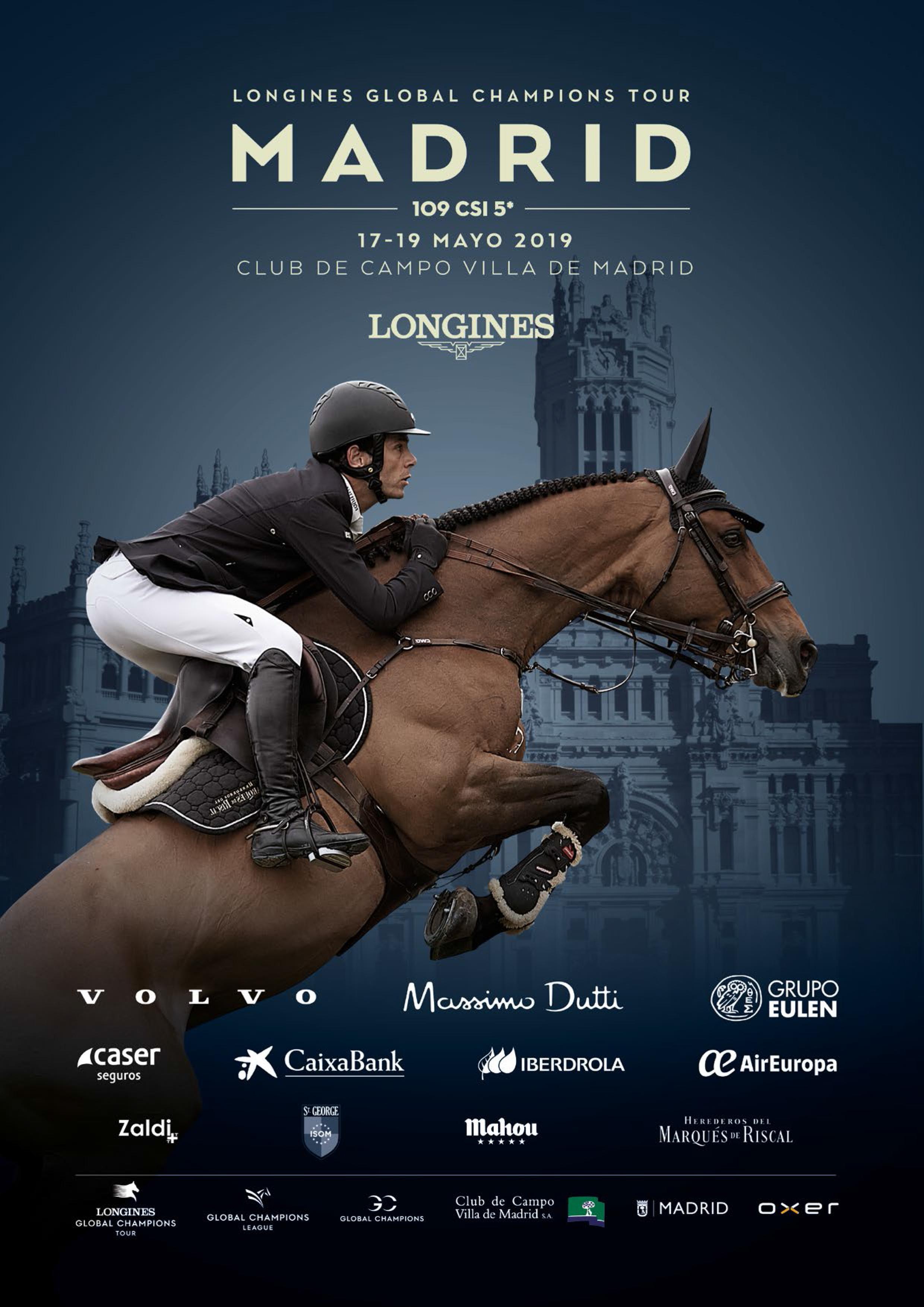 Cartel del CSI Madrid 5*-Longines Global Champions Tour 2019