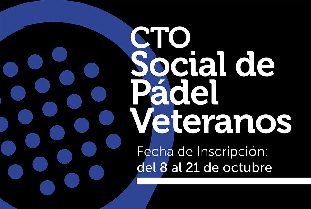 Cartel del Campeonato Social de Veteranos de Pádel 2018
