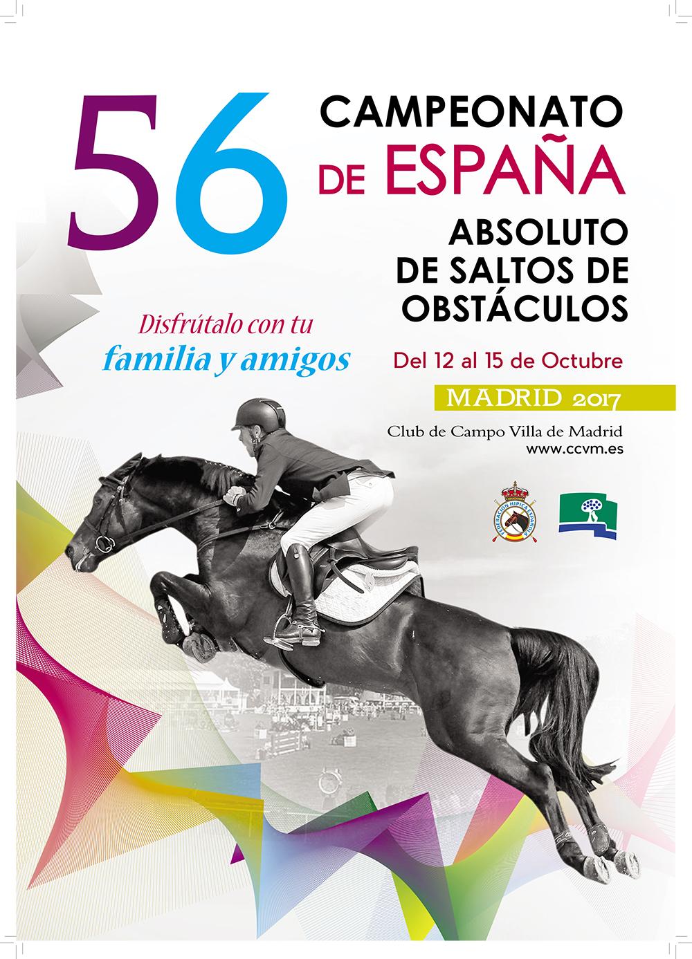 Cartel Campeonato de España de Saltos
