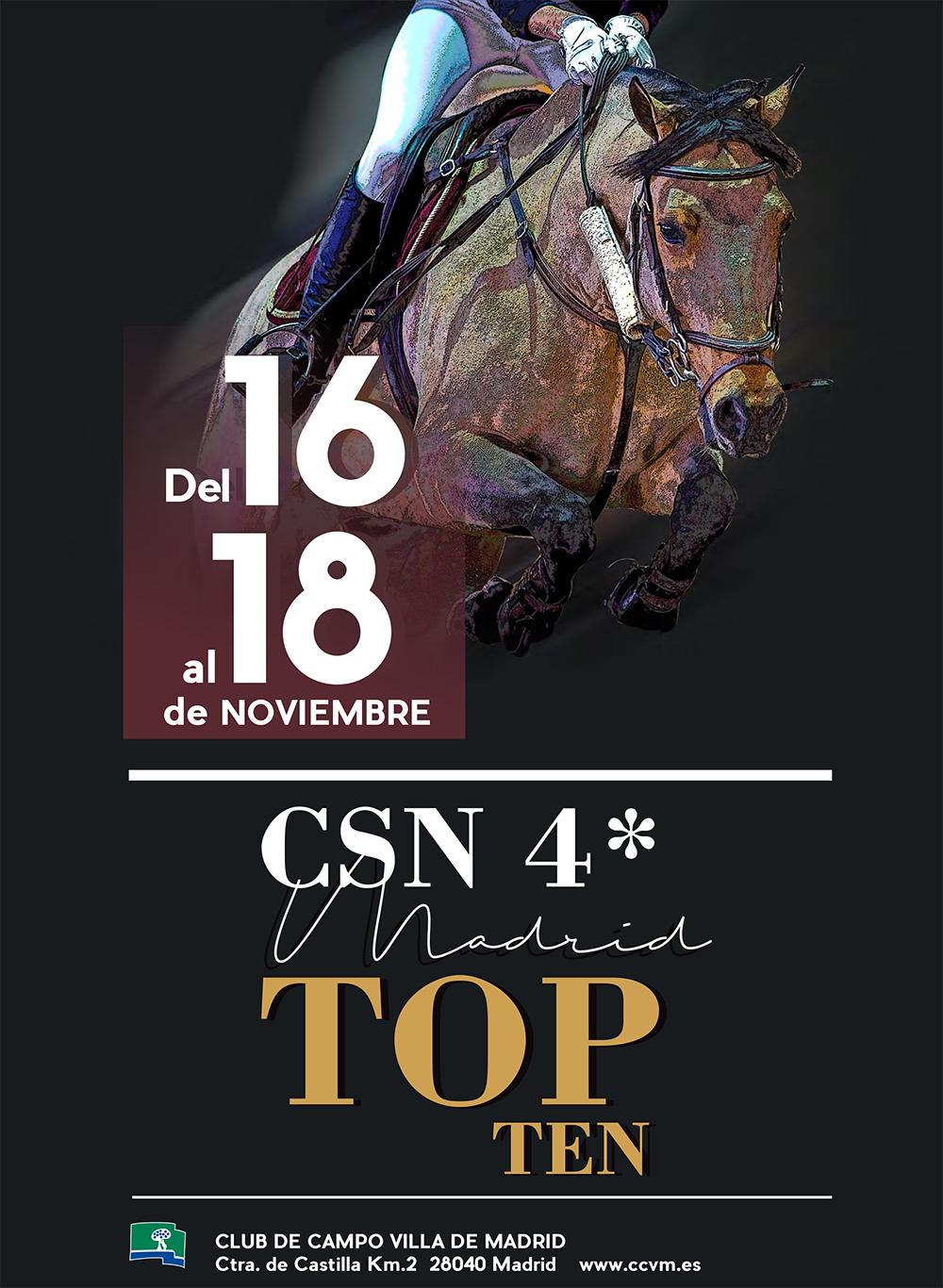 Cartel del CSN 4* Madrid Top Ten