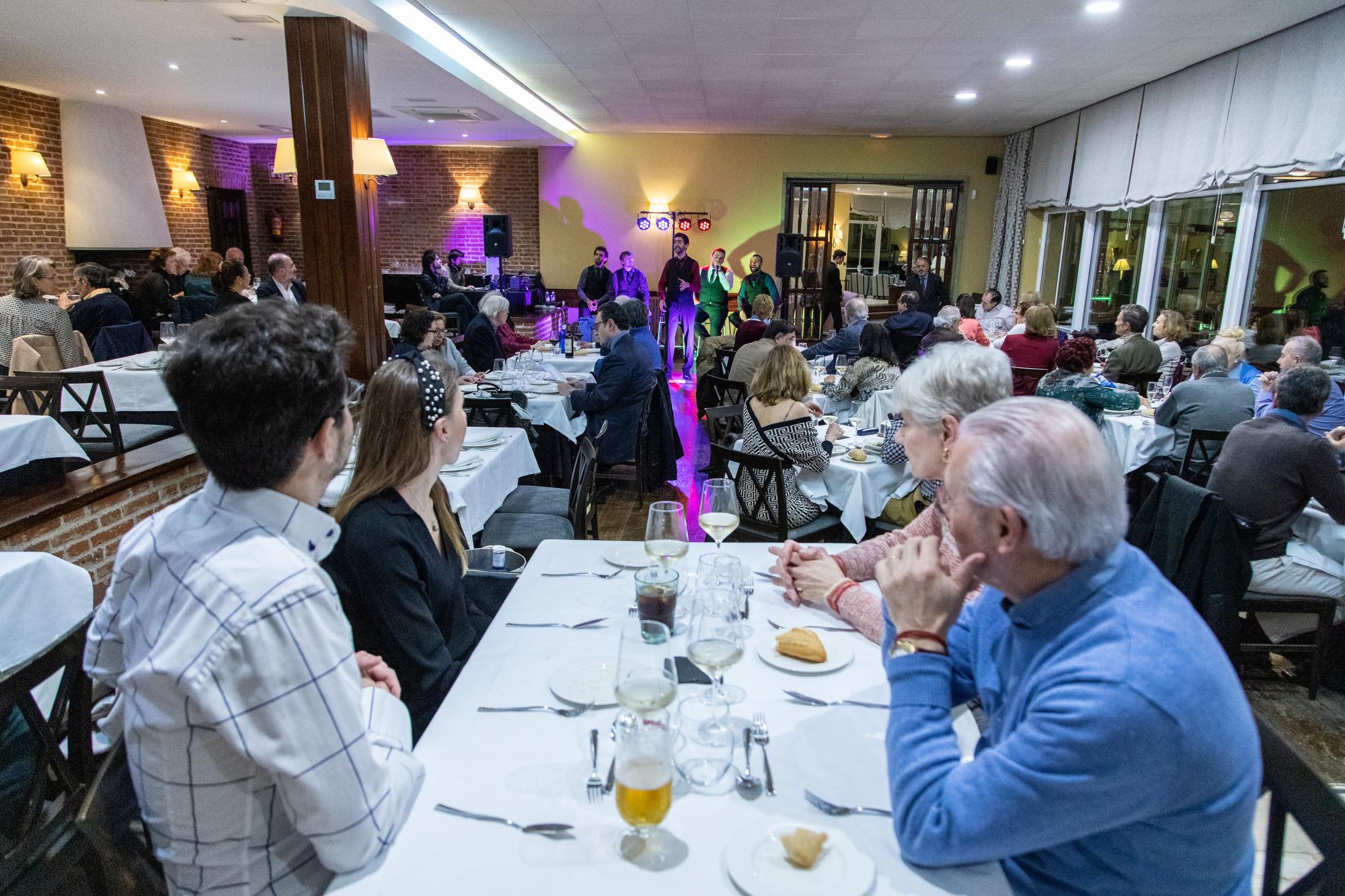 Cena-espectáculo Dimensión Vocal. Foto: Miguel Ros