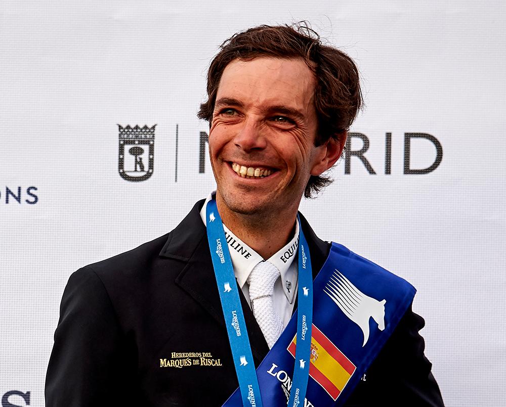 Eduardo Álvarez Aznar en el podio del Gran Premio del CSI Madrid 5*-Longines Global Champions Tour de 2018