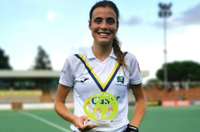 Alejandra Torres-Quevedo, MVP de la Jornada 1 de la Liga 2020-2021 de hockey. Foto: RFEH