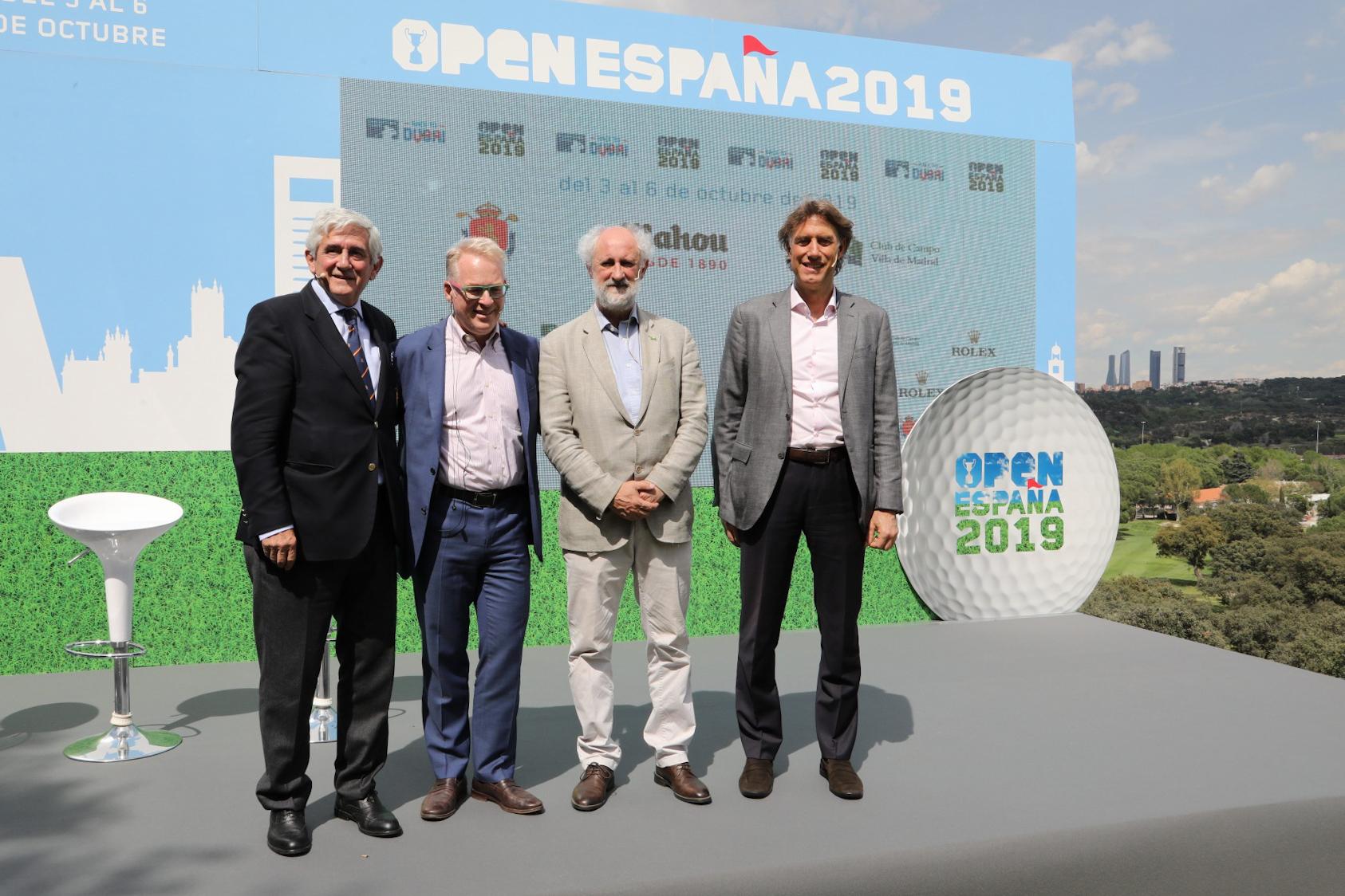 Gonzaga Escauriaza, Keith Pelley, Luis Cueto y Gerard Tsobanian en el acto de presentación. Foto: Miguel Ros