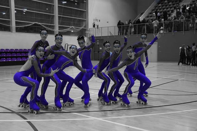 Las patinadoras del Club de Campo en plena acción