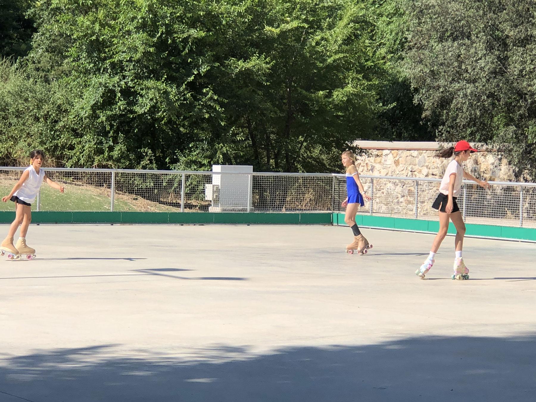 Patinadoras en el Club de Campo. Foto: I. R.