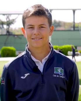 Javier Calles, golfista del Club.