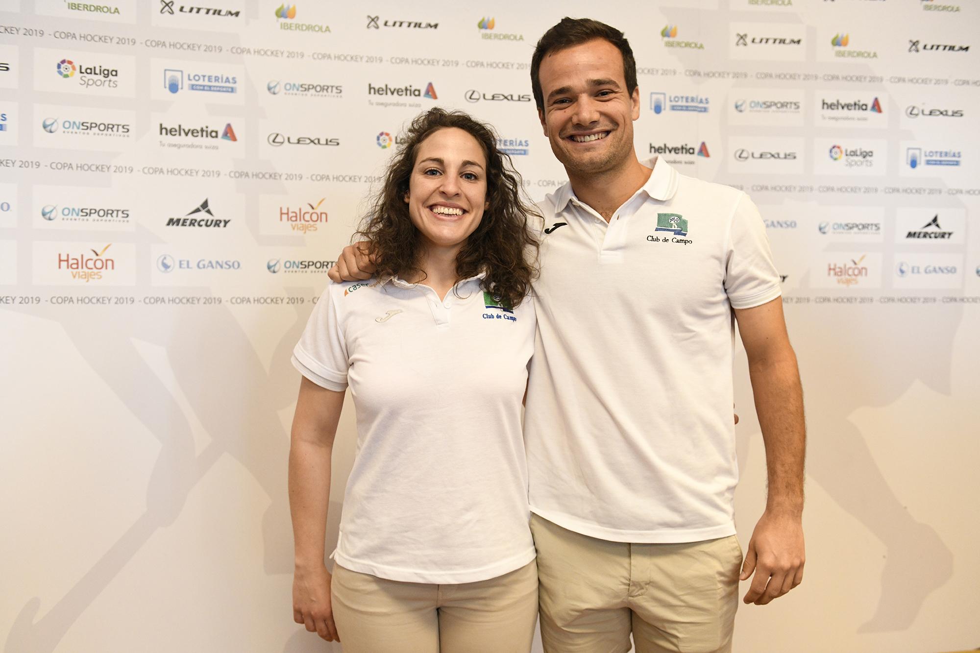 Los jugadores del Club de Campo Mari Ruiz y Álvaro Iglesias. Foto: Rafa Aparicio