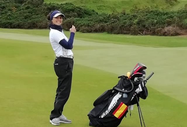 La golfista del Club María Herráez en el Women´s Amateur Championship.