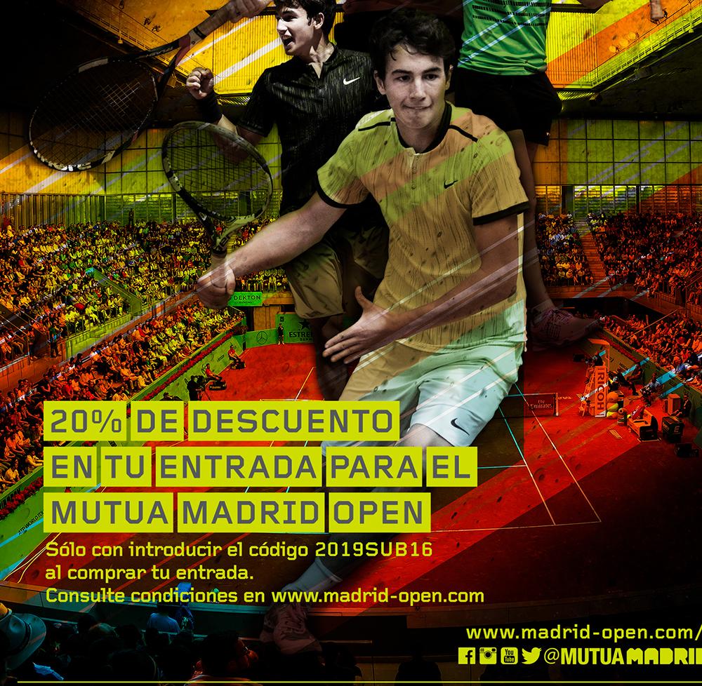 Descuento para el Mutua Madrid Open