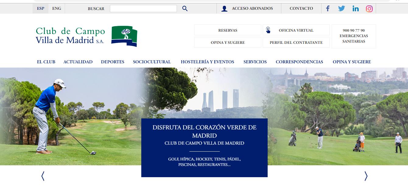 Oficina virtual Club de Campo Villa de Madrid.