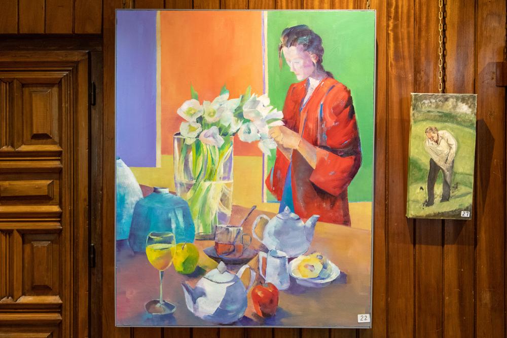 Tercer puesto para Milagros Elorz, con Orquídeas. Foto: Miguel Ros