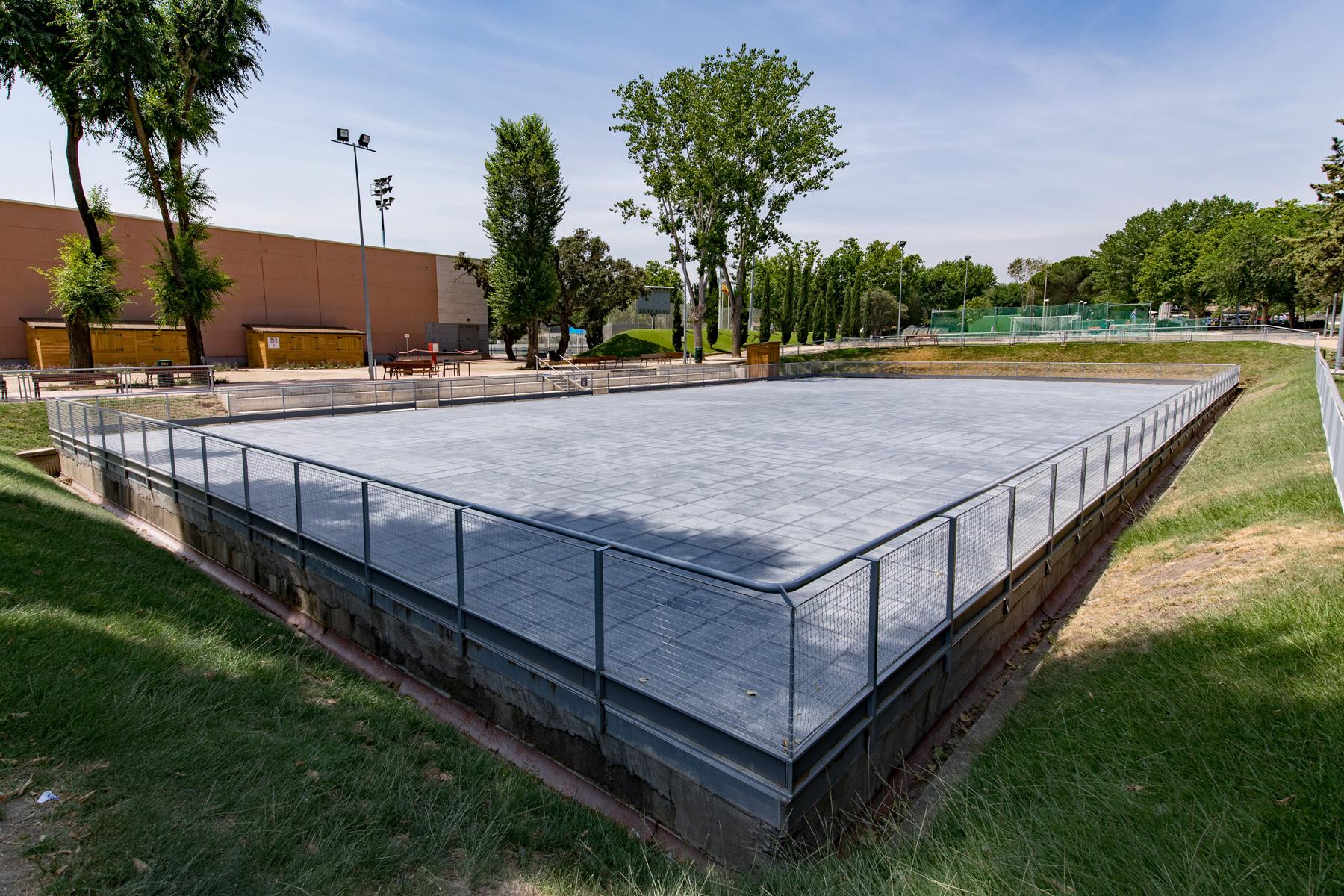 Pista de patinaje del Club de Campo Villa de Madrid.