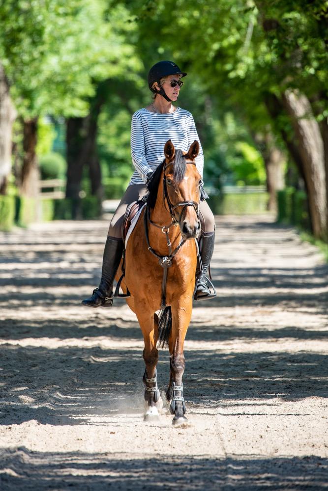 Paseo en caballo por las instalaciones hípicas del Club. Foto: Miguel Ros