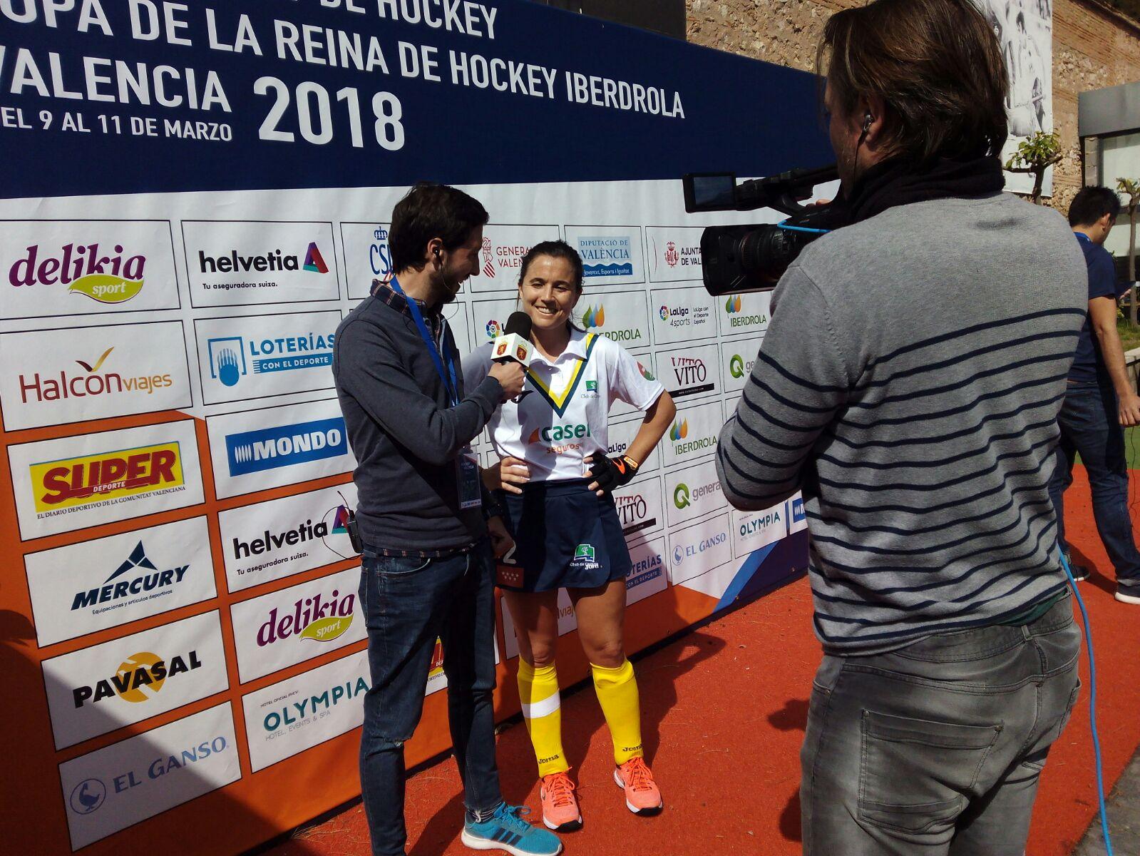 Rocío Gutiérrez atiende a TVE tras la final