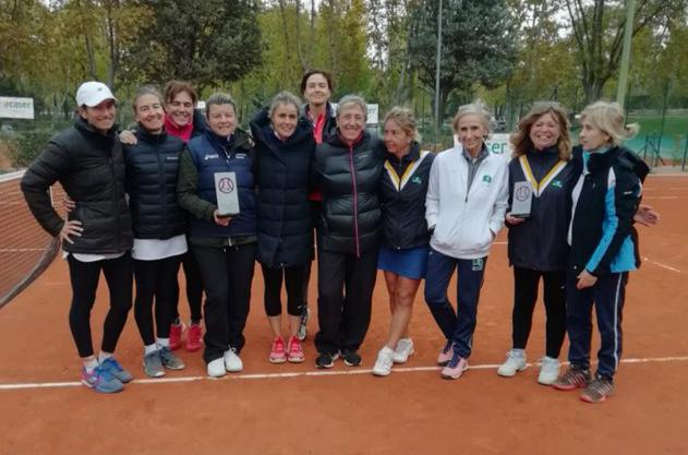 Equipo femenino del Club subcampeón de Madrid +45 de tenis.