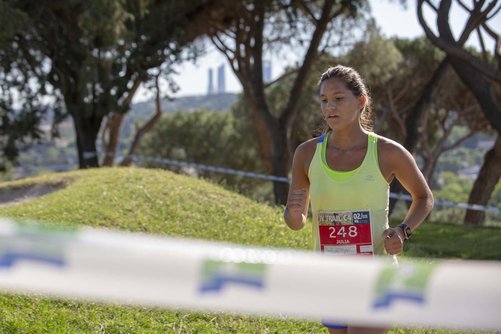 Una participante de la prueba, en pleno esfuerzo. Foto: Miguel Ros