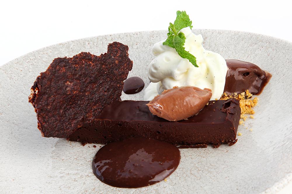 Texturas de chocolate.