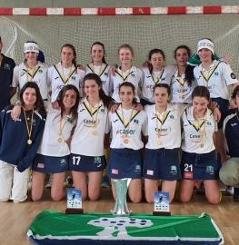 Campeonas de España juveniles de hockey sala.