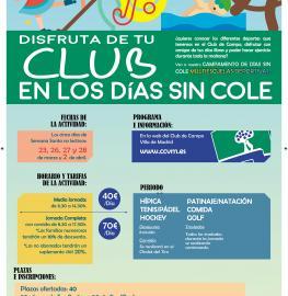 Cartel de Días Sin Cole