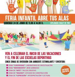 Cartel de la Feria Infantil Abre Tus Alas