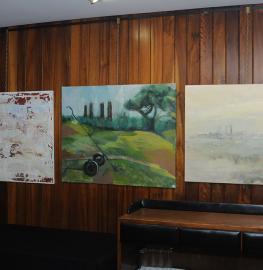Obras expuestas en el Concurso-Exposición de Artes Plásticas de 2017