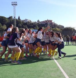 Celebración del título de la Copa de España Juvenil