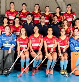 Selección española femenina de hockey sala. Foto: RFEH