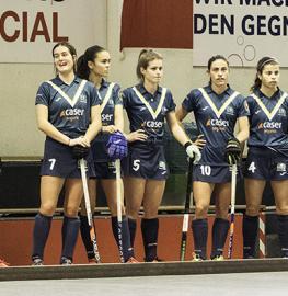 Las jugadoras del Club de Campo antes de un partido. Foto: Ignacio Monsalve