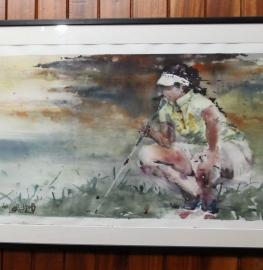 Obra ganadora del primer premio de 2018, titulada 'Golf chica', de David de Lorenzo.