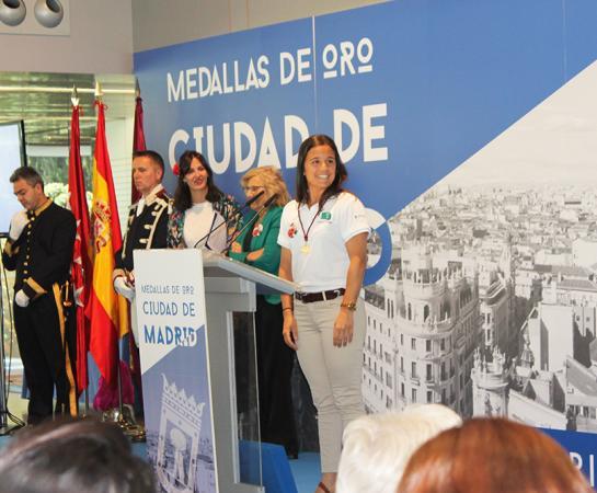 Rocío Gutiérrez antes de comenzar su discurso