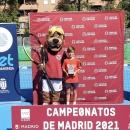Beltrán Serrano de Pablo, con el trofeo de subcampeón benjamín de Madrid de tenis. Foto: FTM