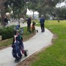 Acceso peatonal en zona de golf