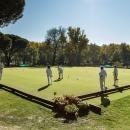 Partido de croquet en el Campo 1 del Club.