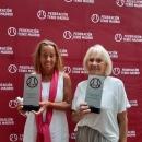 Las tenistas del Club Mercedes Anos y Mercedes Bardaji.