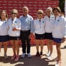 Tenistas del Club de Campo campeonas de España +60: Soledad Semprún, Carmen Chillida, Mónica Álvarez de Mon, Beatriz Calvo y Emilia López