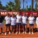 El equipo del Club campeón (de izda. a dcha.): Merche Bardaji, Begoña Eraña, Beatriz Pellón, Icíar Eraña y Ana Almansa. Foto: Rfet