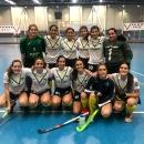Campeonas de la Liga 1ª femenina de Madrid de hockey sala.