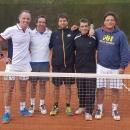 Equipo masculino del Club campeón de España +50 de tenis.