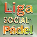 Cartel de la Liga Social de pádel
